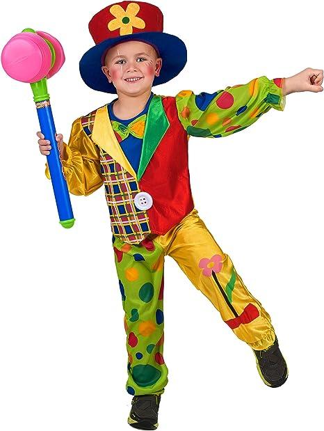 EL CARNAVAL Disfraz Payaso con Sombrero niño Talla de 6 a 8 años ...