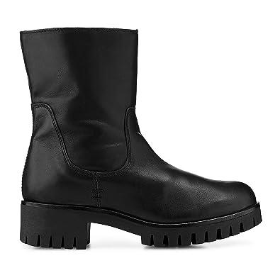 Cox Damen Damen Winter Boots aus Leder, Plateau Stiefel in