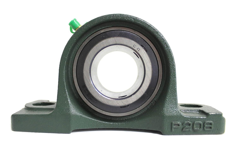 4x UCP 208/UCP208 Stehlager 40mm Welle (2-Loch Lagerbock) mit Metallschutzlack fü r Innendurchmesser 40mm Bohrung/Gehä uselager/Stehlagereinheit P208 CQ