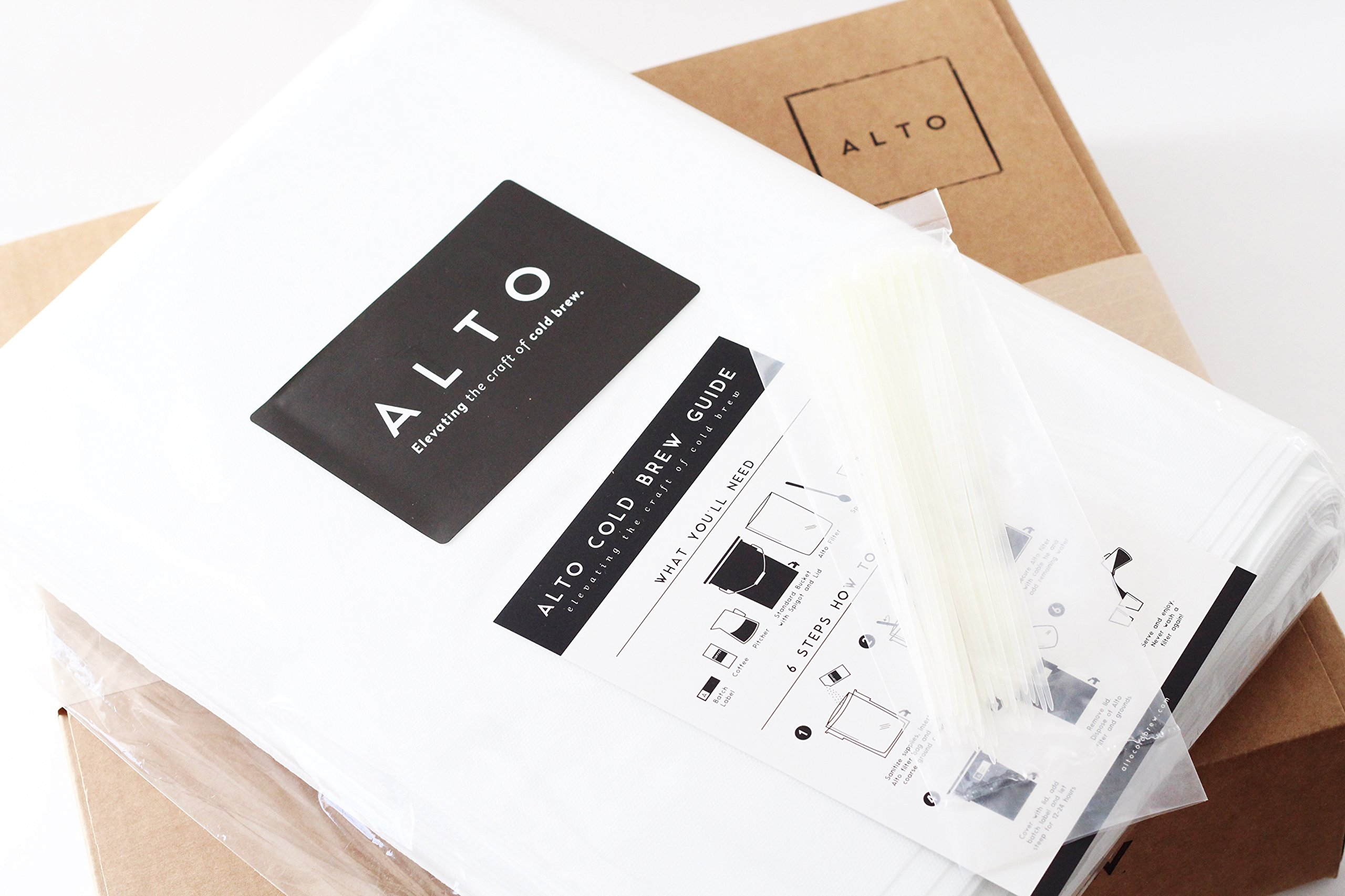 Alto Cold Brew Disposable Commercial Coffee Filters 18'' x 24'' [50 Pack]. Compatible with Commerical Cold Brew Systems and Buckets. Cleaner Brighter Specialty Cold Brew, Without the Cleanup by Alto Cold Brew