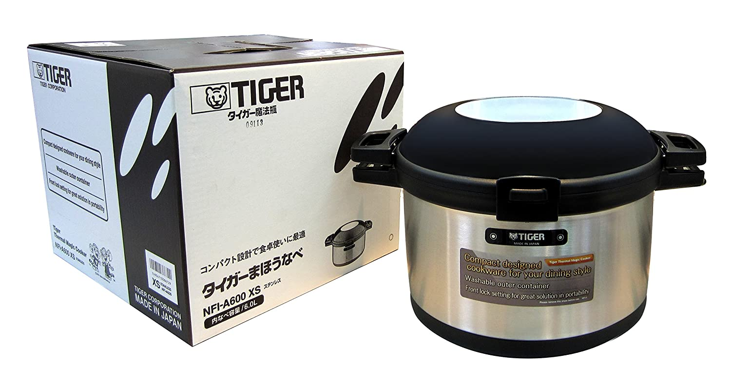 Tiger NFI-A600 Vacuum Insulated Non-Electric Thermal Cooker, Double Wall, 203 Oz/6 L