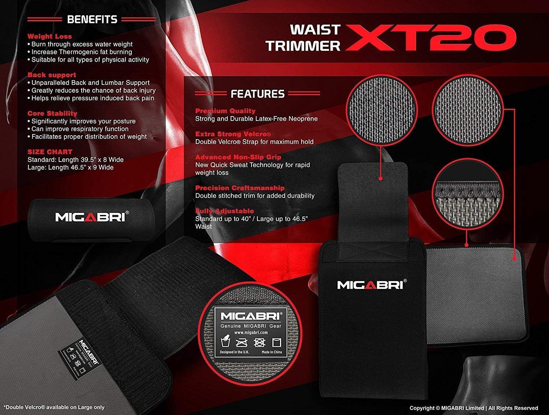 Migabri Taille Trimmer XT20-Premium Large Grip Slimming Belt accélère...