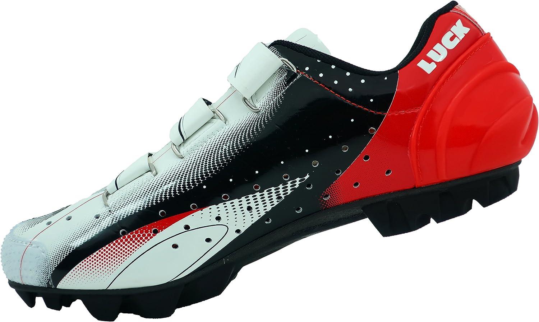 con Suola in Carbonio e Tripla Striscia di Velcro di Fissaggio Oltre alla Punta di Rinforzo. Luck Scarpe da Ciclismo Extreme 3.0 MTB