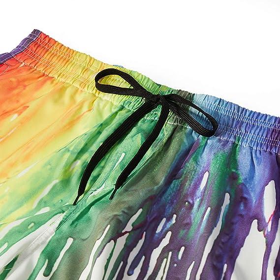 Summer Drawstring Quick Dry Beach Board Shorts PTYHR Mens Swim Surfing Trunks