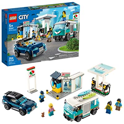LEGO City Service Station 60257 Pretend Play Toy, Building Sets for Kids, New 2020 (354 Pieces): Toys & Games