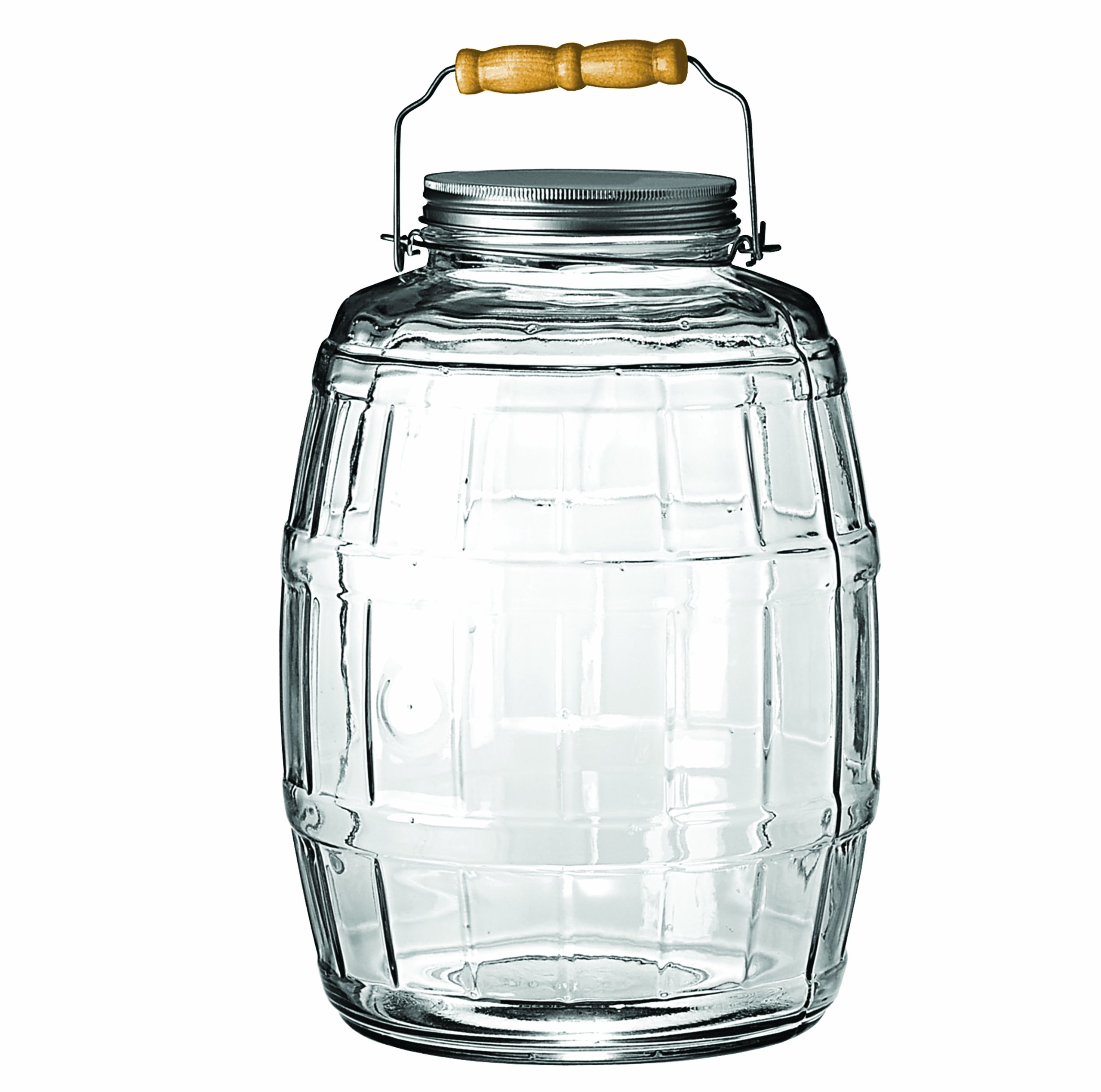Anchor Hocking 2.5-Gallon Glass Barrel Jar with Brushed Aluminum Lid by Anchor Hocking