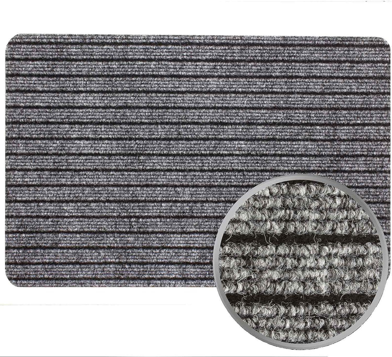 Fu/ßmatte T/ürvorleger Fu/ßabtreter T/ürmatte ATLAS in 40x60 50x80 Farben:Grau Gr/ö/ßen:ca 40 x 60 cm