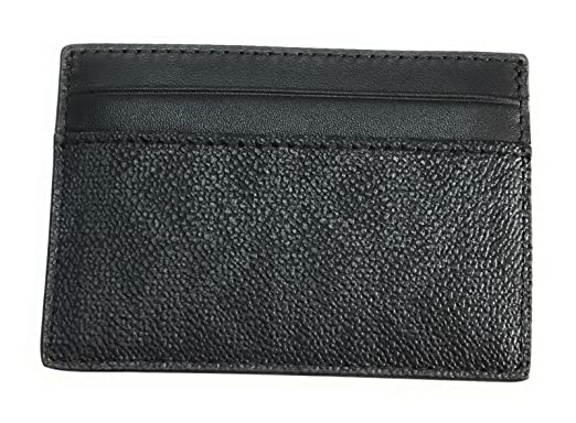 30530b34fa04 MICHAEL KORS MEN MONEY CLIP CARD CASE (Black PVC) at Amazon Men's ...