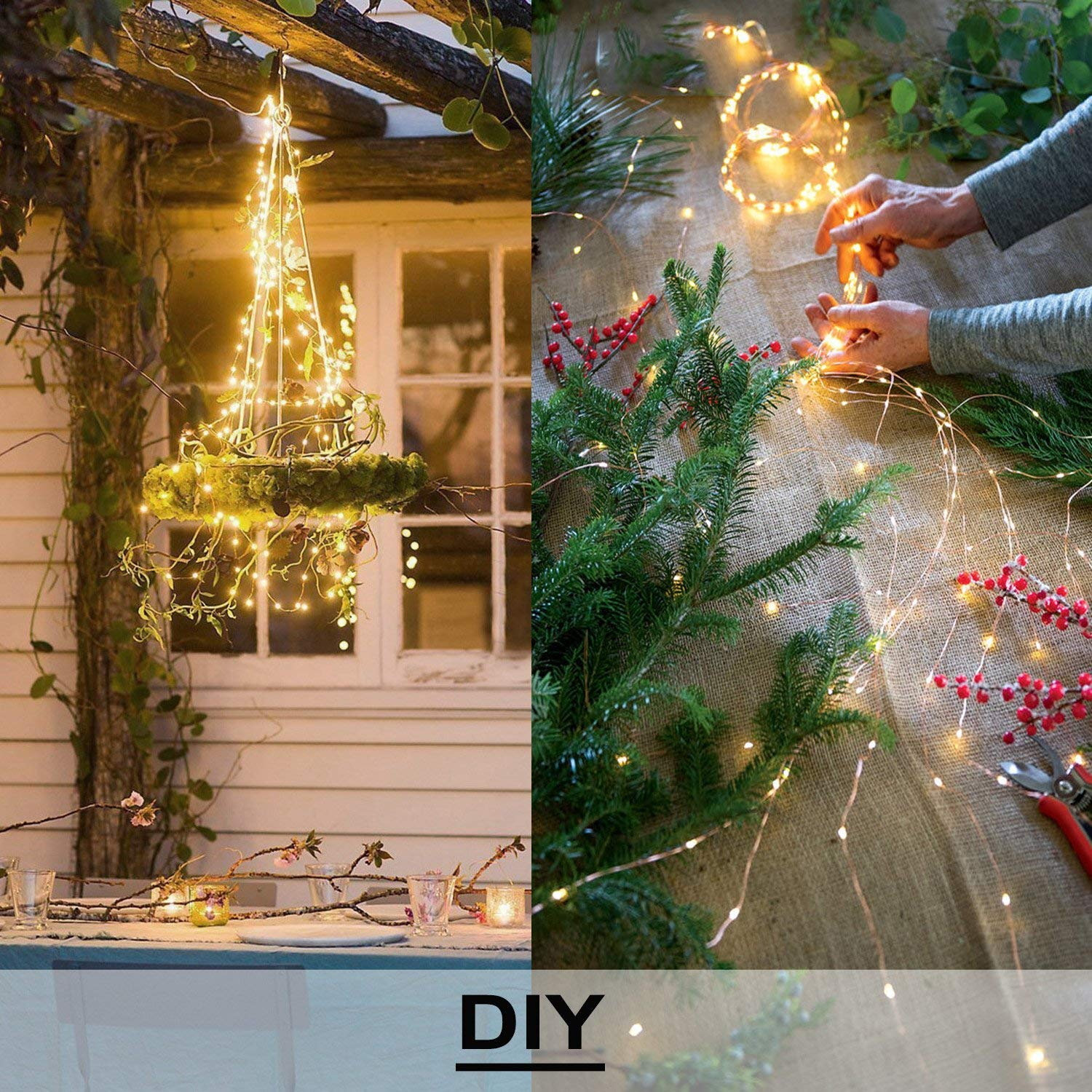 Aloveco Battery Operated String Lights 2 Pack With Remote