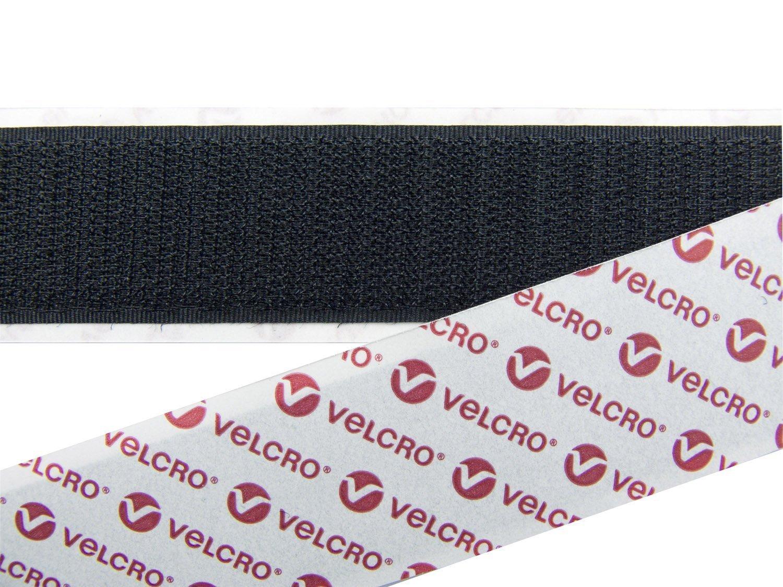 Echten Klettverschluss Velcro® Haken und Loop Loop Loop selbstklebend Sticky Back Tape Klettverschluss in Schwarz 100 mm breit – 10 cm breit x 1 m lang, glas, schwarz, 5M (5m Hook5m Loop) B01KM6JO5I | Passend In Der Farbe  9195f1