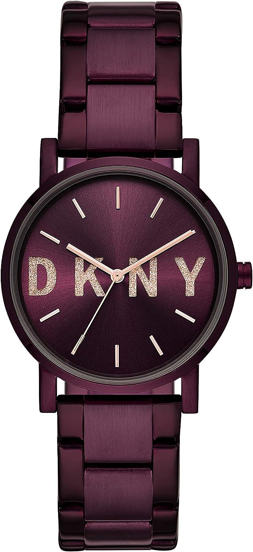 DKNY Reloj Analógico para Mujer de Cuarzo con Correa en Acero Inoxidable NY2766