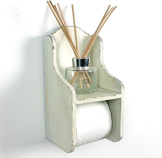 Portarrollos de papel higi/énico de madera con encanto