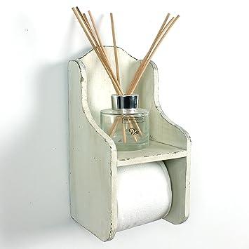 Fabulous Boutique Toilettenpapierhalter, Holz weiß: Amazon.de: Küche & Haushalt RB02