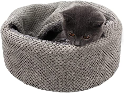 cute cat bed machine washable cat bed summer cat bed lake life design round cat bed flannel bed Cat bed