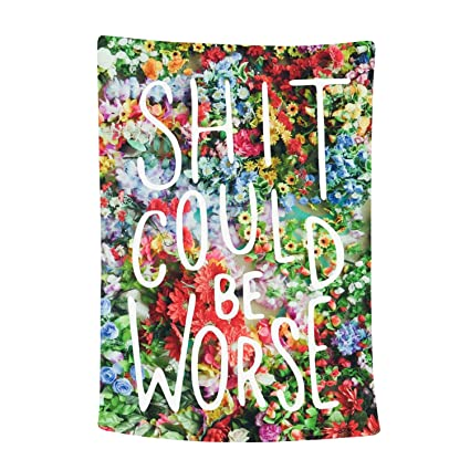 Amazoncom Sunm Boutique Wall Tapestry Flower Tapestry Floral Words