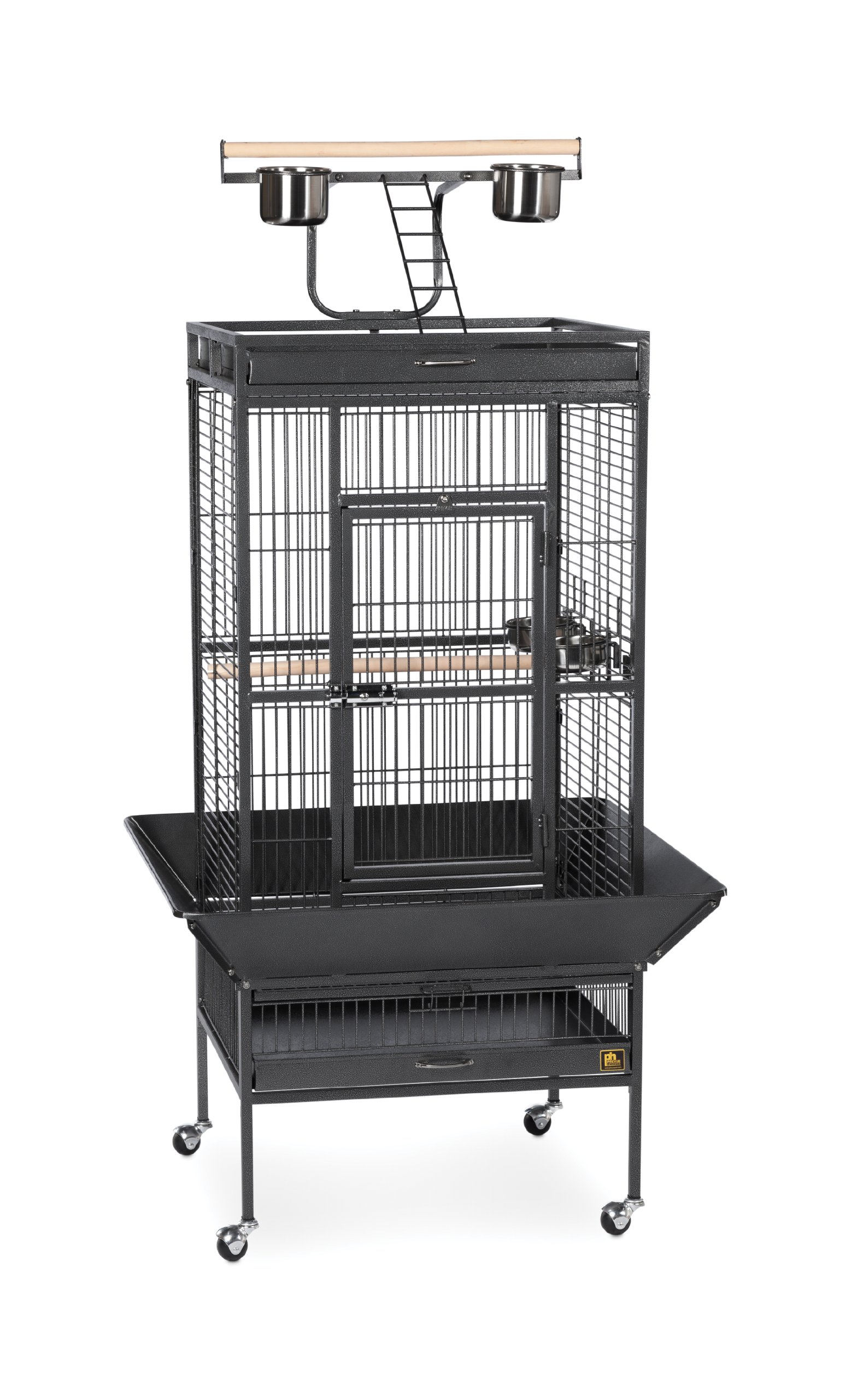 Prevue Hendryx 3152BLK Pet Products Wrought Iron Select Bird Cage, Black Hammertone