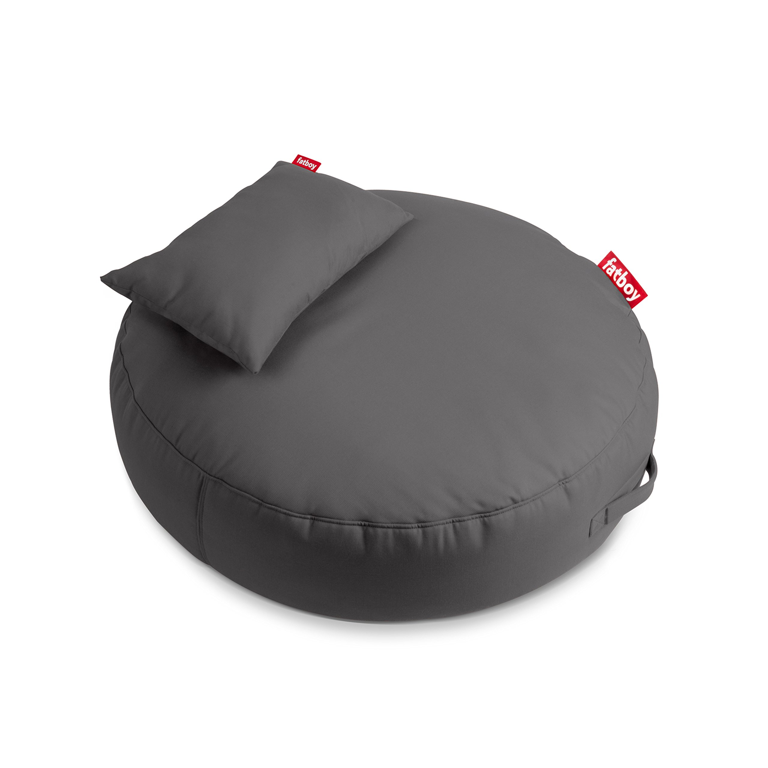 Fatboy Pupillow Indoor Outdoor Bean Bag Pouf Ottoman and Seat, Grey