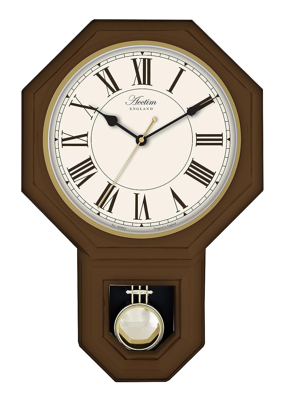 Acctim 28316 woodstock wall clock dark wood effect amazon acctim 28316 woodstock wall clock dark wood effect amazon kitchen home amipublicfo Choice Image