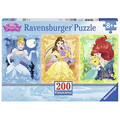 Ravensburger Beautiful Disney Princesses Panorama 200 Piece Jigsaw Puzzle for Kids – Every Piece is Unique, Pieces Fit Together Perfectly: Toys & Games