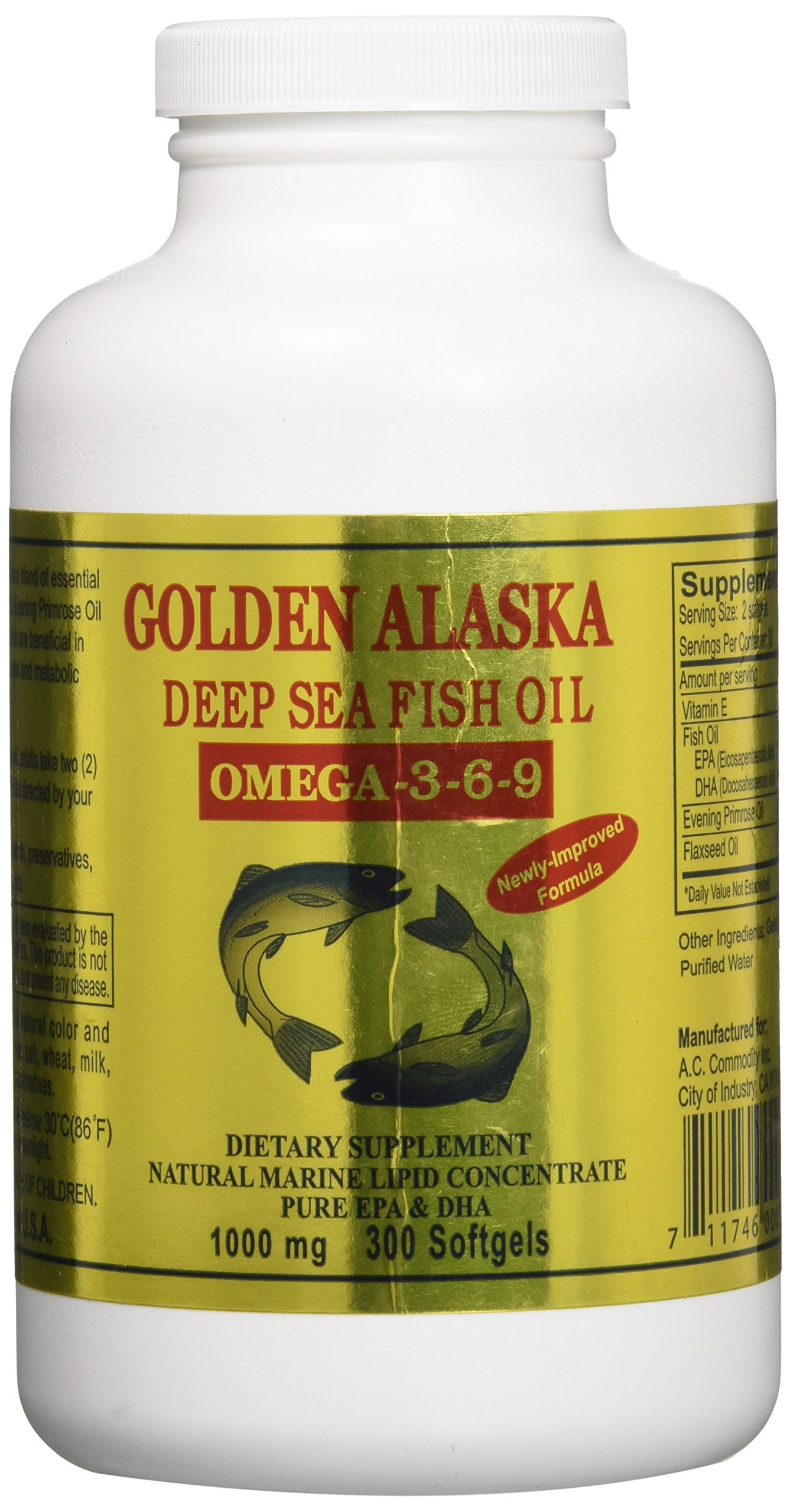 Golden alaska deep sea omega 3 6 9 fish oil for Alaska deep sea fish oil