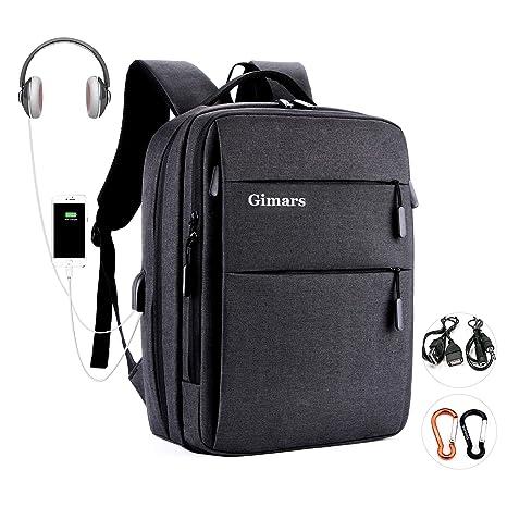 """64b4c0cafc Gimars Zaino Porta PC 15.6"""" Unisex/con Ricarica USB e Interfaccia Cuffie  Tasca Vestiti"""
