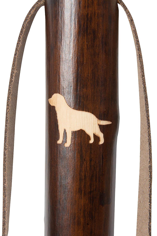 color marr/ón Personal de senderismo de madera de casta/ño con dise/ño de campo grabado con l/áser Madera tallada