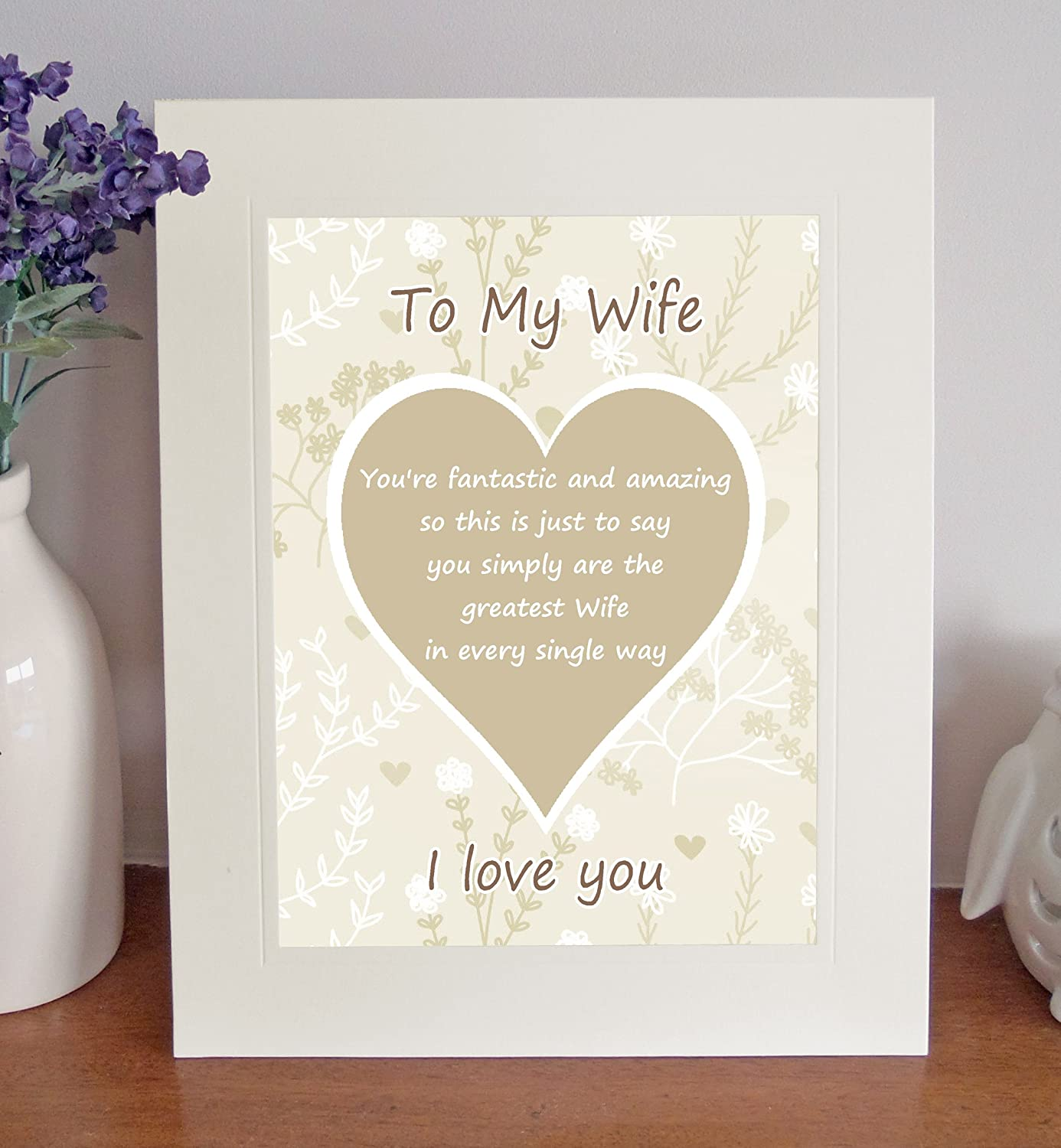 Wife 'I Love You' Free Standing 10
