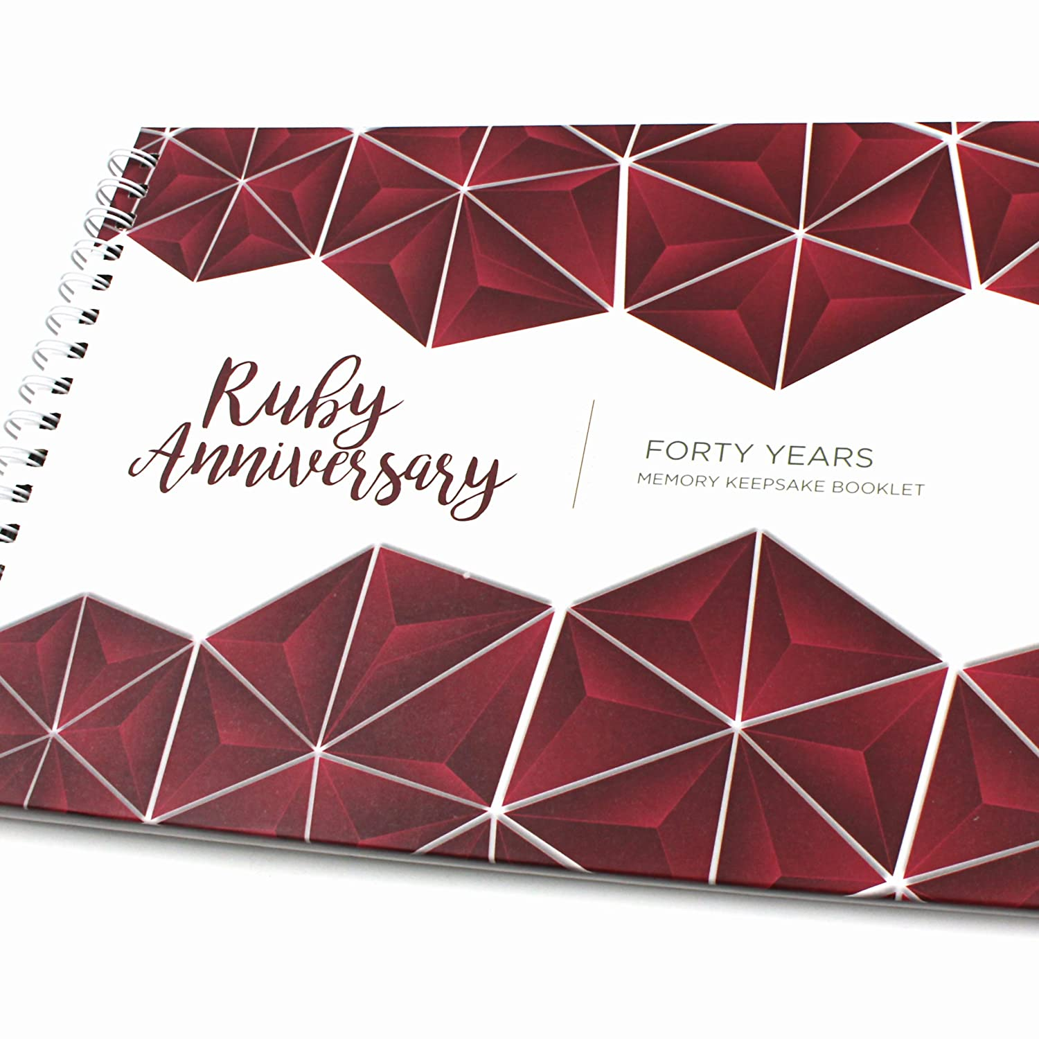 Unique 40th Wedding Anniversary Memory Book with Stickers and A ...