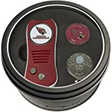 Team Golf NFL Adult-Unisex Tin Gift Set with Switchfix Divot Tool, Cap Clip, and Ball Marker