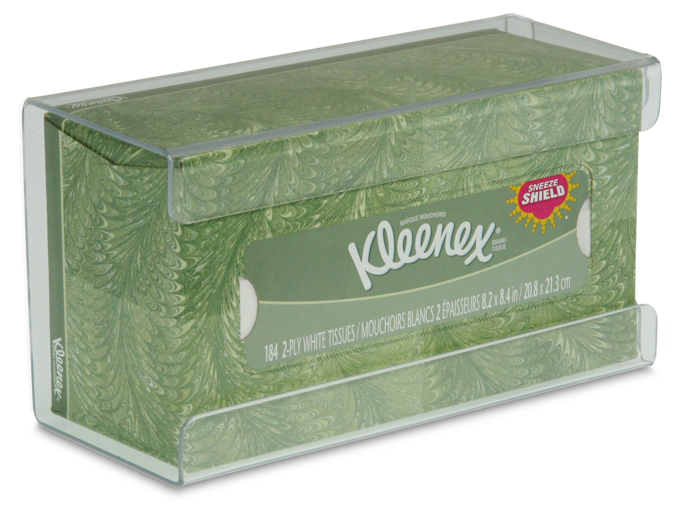 TrippNT 51234 Plastic Wall Mountable Kleenex Box Holder, 9-5/8'' Width x 5-1/4'' Height x 4'' Depth, Medium, Clear by TrippNT