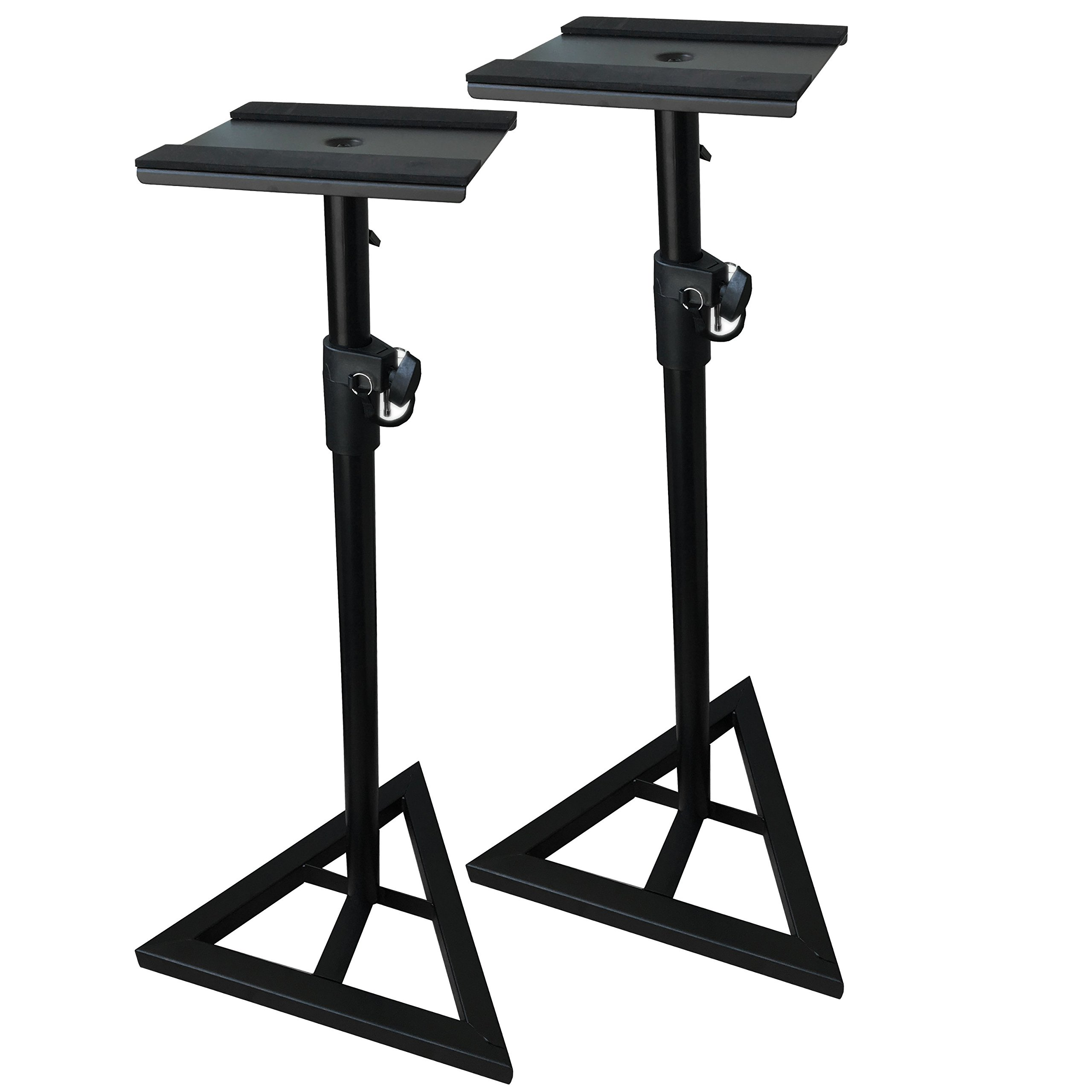 EMB Professional Pair of SS07 Heavy Duty Studio Monitor Speaker Stands w/Height Adjustment/Set of 2 by EMB