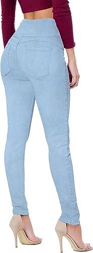 Hybrid & Company Women's Butt Lift V3 Super Comfy Stretch Denim Jeans P45071SKX Light WASH 20