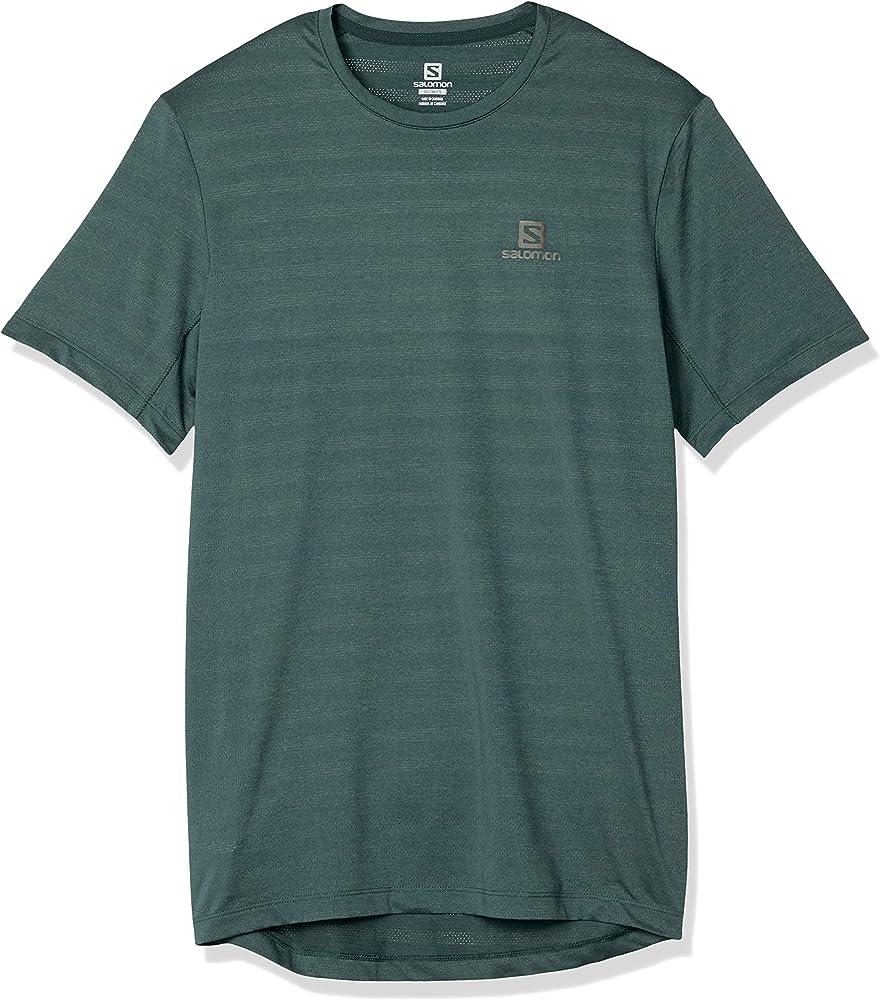 SALOMON XA tee Camiseta, Hombre, Balsam Green/Heather, XL: Amazon ...