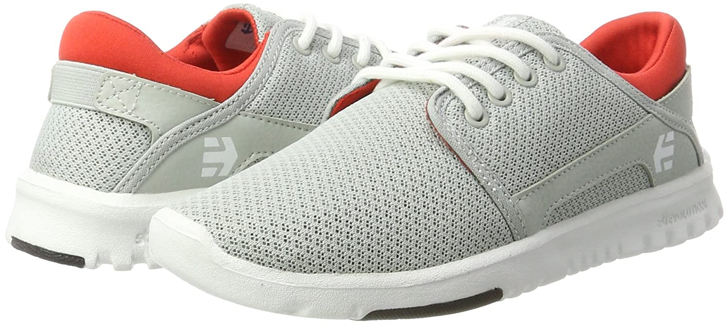 Etnies Womens Scout Sneaker B01IE7147S 8.5 B(M) US|Light Grey/Black/Orange