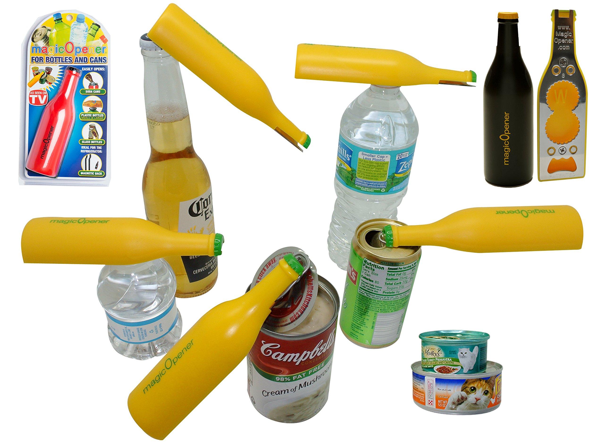 Water Bottle Opener | Arthritis Bottle Opener | mO EXTREME | Magnetic Bottle Opener for Fridge | Ergonomic Bottle Opener | Bottle OpenerGift | Magnet | Twist off Bottle Opener for Plastic Caps | Tin