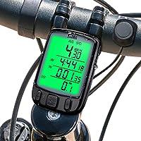 Mture Ordinateur de vélo, Compteur de Vélo sans Fil pour Bicyclette, Multifonction Suivi Distance, Vitesse, Temps, Température, étanche, Grand Rétro-éclairage LCD - Noir