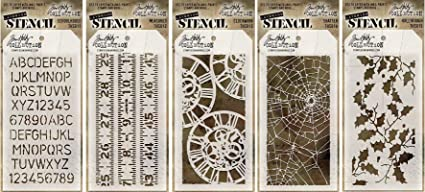 Stampers Anonymous Tim Holtz Collection Measured Design Layering Stencil