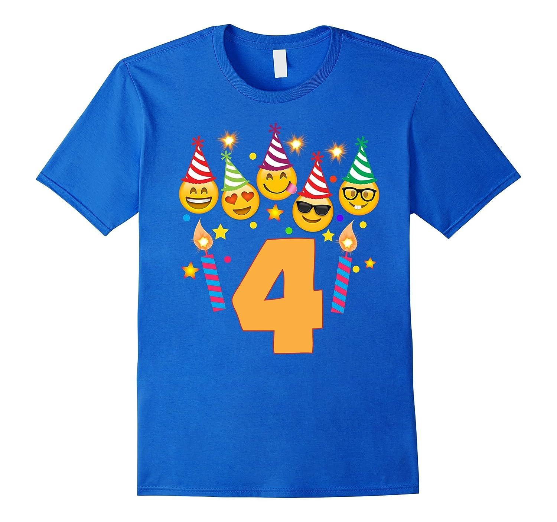 Emoji Birthday Shirt For Four 4 Year Old Girl Boy Toddler CD