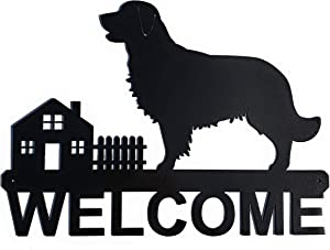 """Golden Retriever Welcome Sign 
