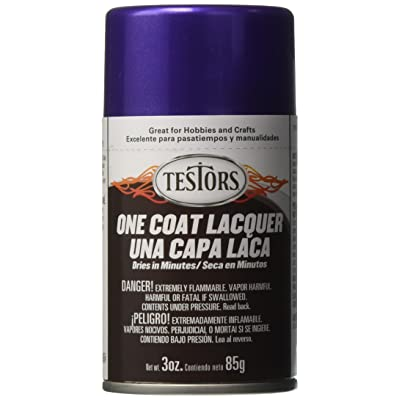 Testors Aerosol Lacquer Paint, 3-Ounce, Purple/Licious: Arts, Crafts & Sewing