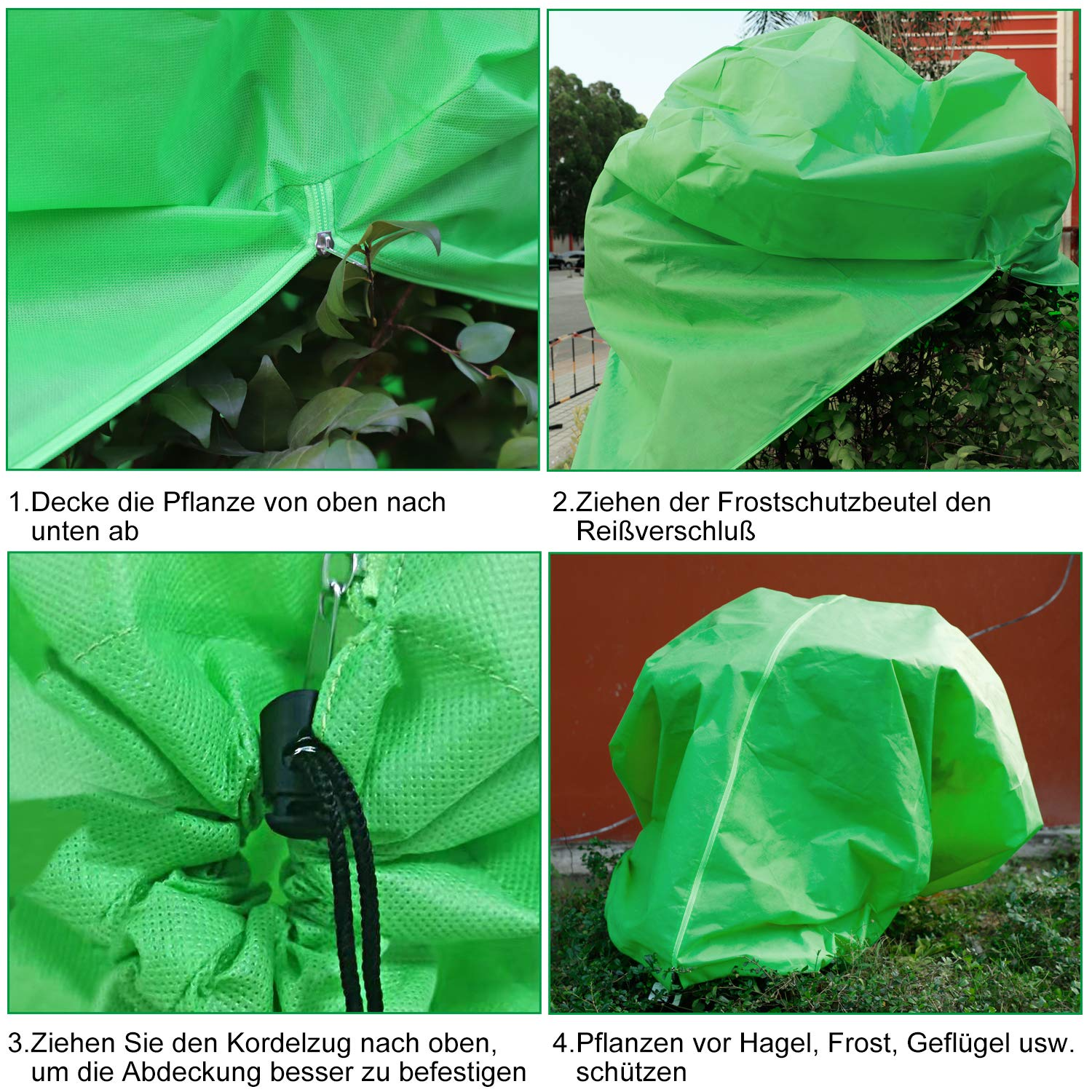 Firlar Frost Protection Bags Plant Protection Winter Organic Green Winter Protection Plant Pot Plant Sack Green Thickening Frost Protection Cover