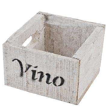 Caja de Madera Vino Vino diseño Vintage de Used Diseño 10 x 14 x 15 cm Cajas de Vino Blanco rústico Colonial: Amazon.es: Juguetes y juegos