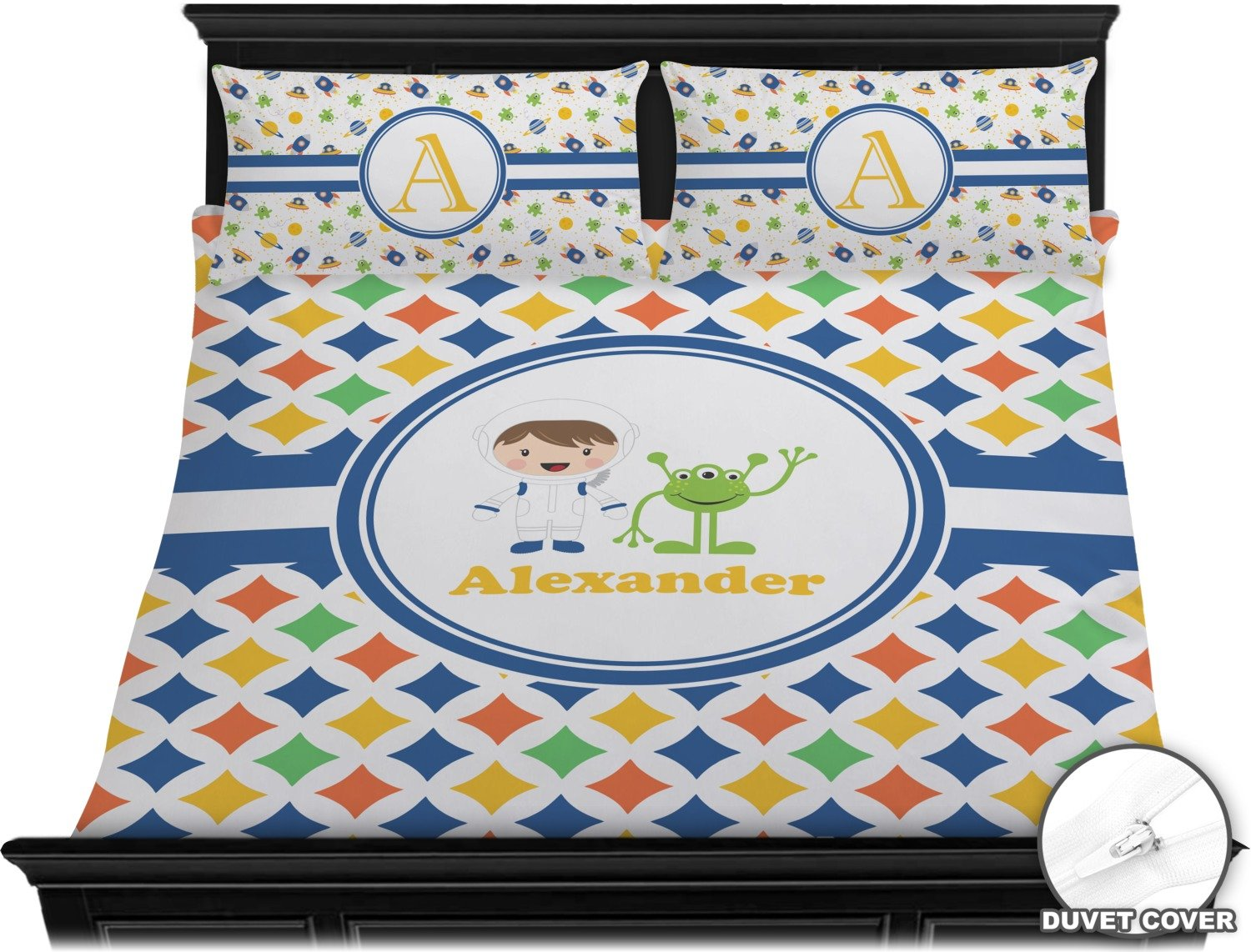 Boy's Astronaut Duvet Cover Set - King (Personalized) by RNK Shops