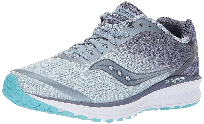 Saucony Women's Breakthru 4 Running Shoe B071G34CHW 5 B(M) US|Fog/Grey