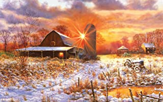 product image for Snow Barn 550 Piece Jigsaw Puzzle by SunsOut