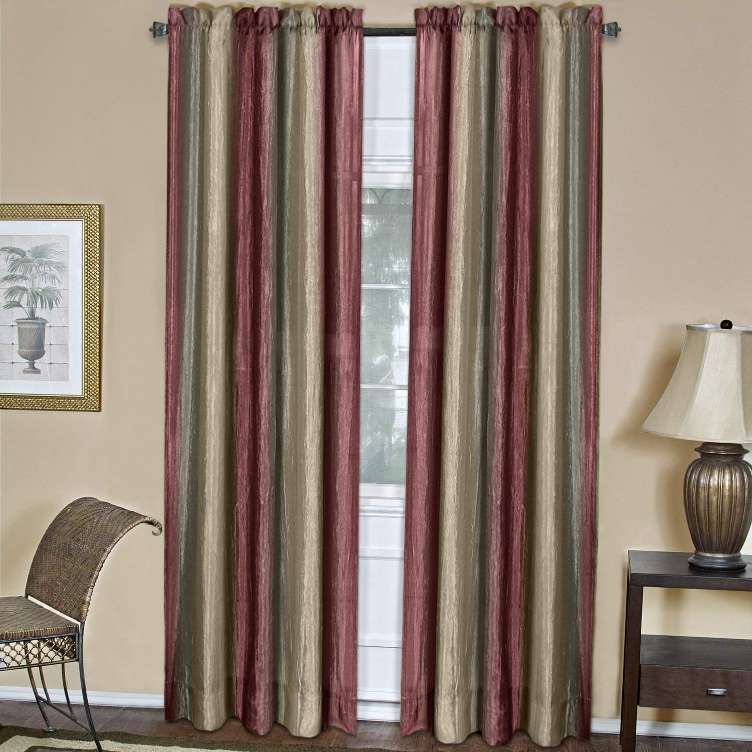 "Achim Home Furnishings Ombre Window Panel, 50 84-Inch, Burgundy, 50"" x 84"","
