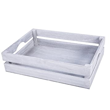 New Shallow Wooden Crates Shop Display Shelf Storage Box Christmas Gift Hampers Small