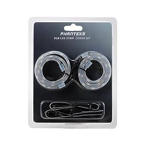Phanteks PH-LEDKT_Combo: RGB LED Strip Combo Set - Retail Cases