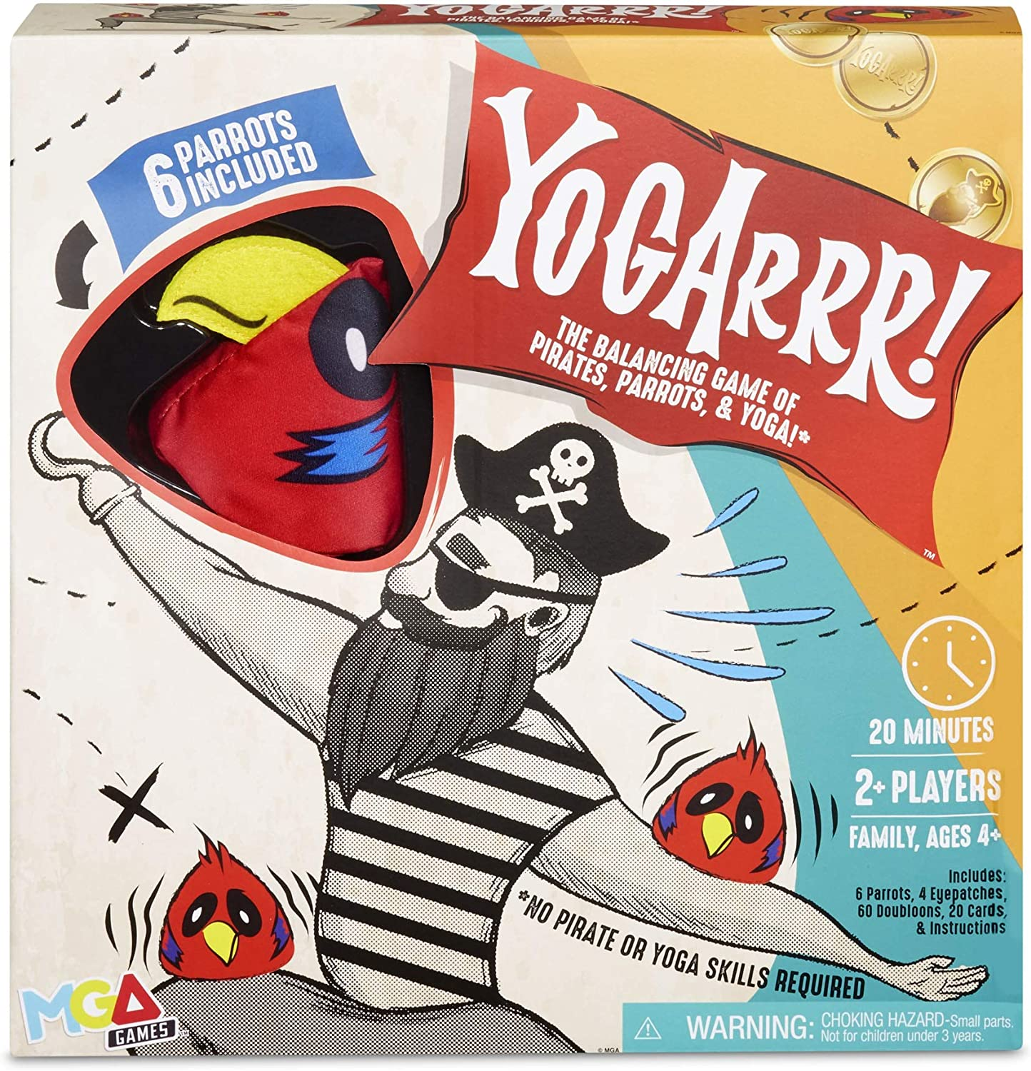 MGA Entertainment Yogarrr! Family Pirate Yoga Party Board Game Ages 4 and Up