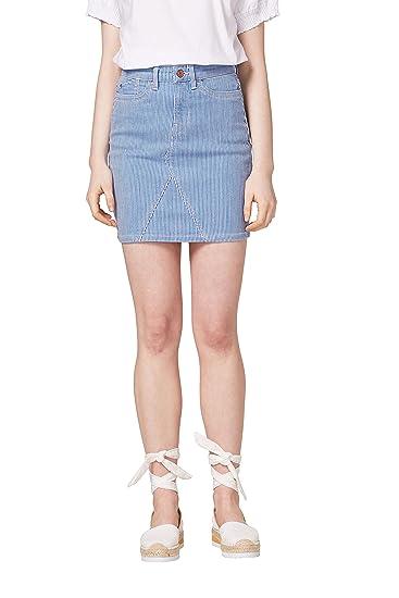 edc by Esprit 058cc1d001, Falda para Mujer, Multicolor (Blue Light ...